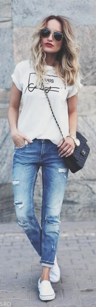 outfits con t-shirt blanca