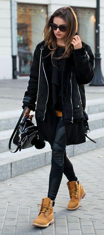 outfit de inverno total black