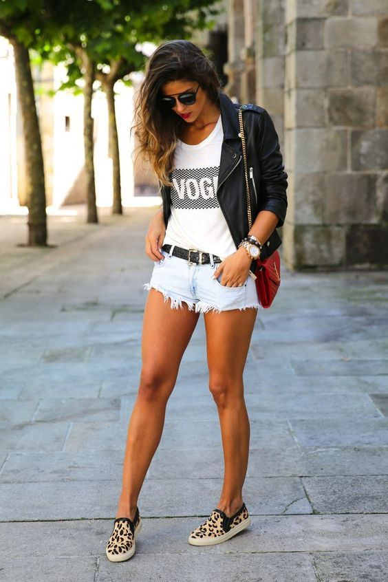 outfit con un lindo short de jean