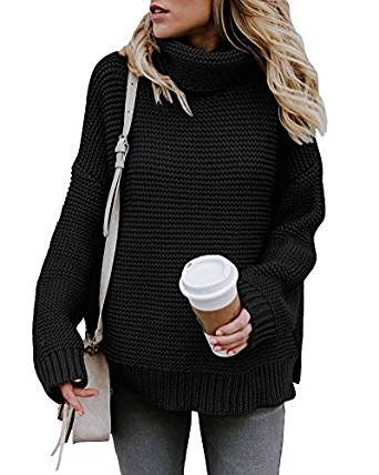 suéter negro para invierno