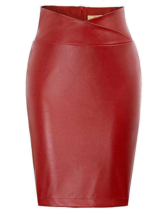 falda tubo roja