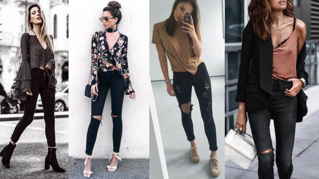 jeans rotos negro