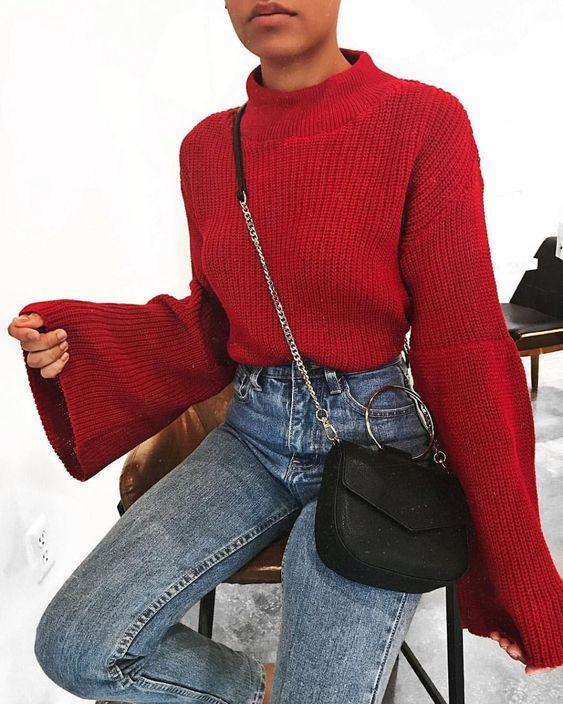 jersey rojo de mujer