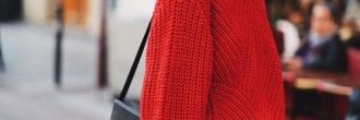Outfit con jersey rojo