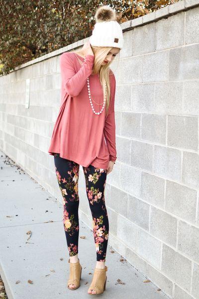 leggings estampados flores