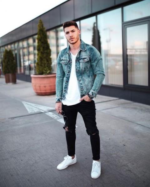 outfit casual con chaqueta