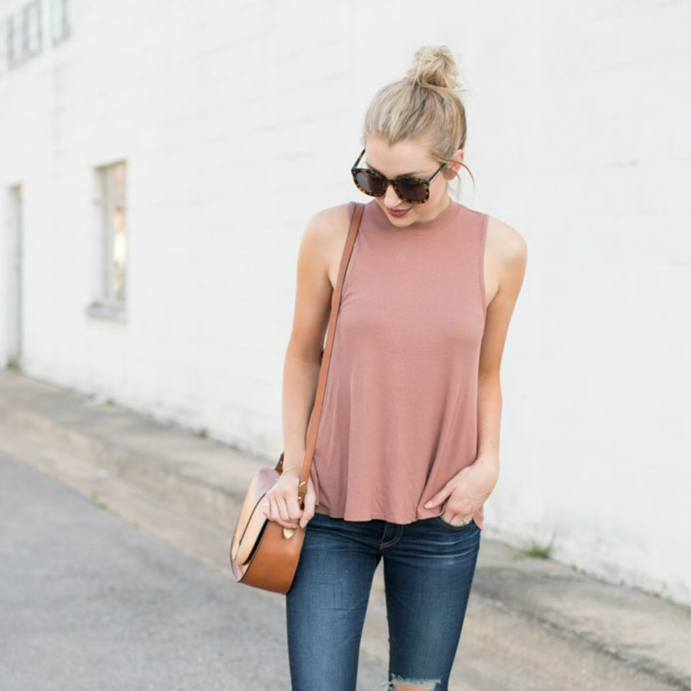 outfit de primavera con jeans