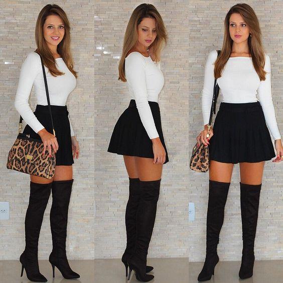 outfit facil con falda
