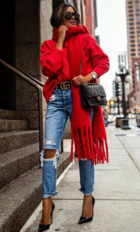 outfit jersey rojo facil