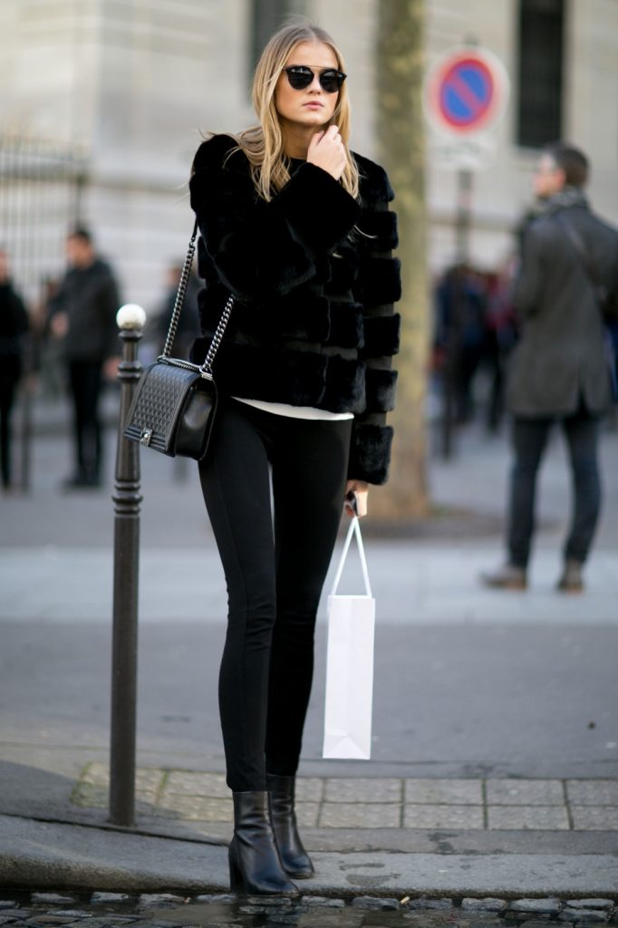 outfit leggings negros