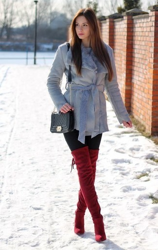 outfit leggings negros invierno