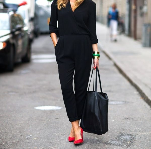 outfit negro mujer