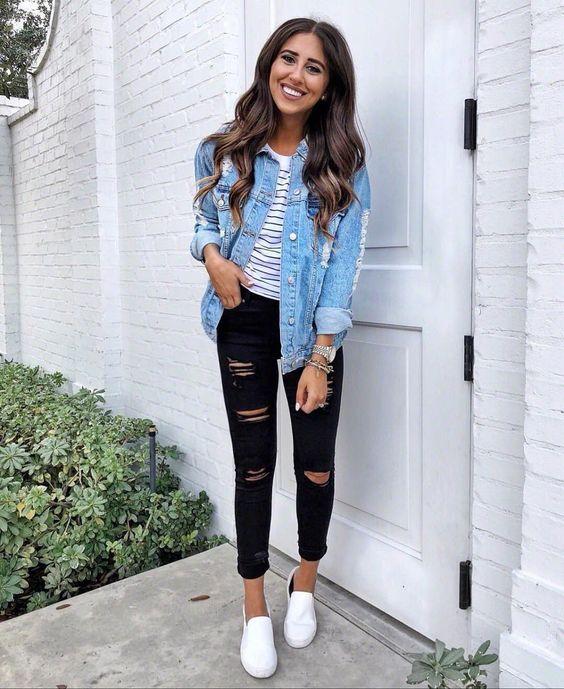 Outfit Con Jeans Ideas Fotos Estilos 2021