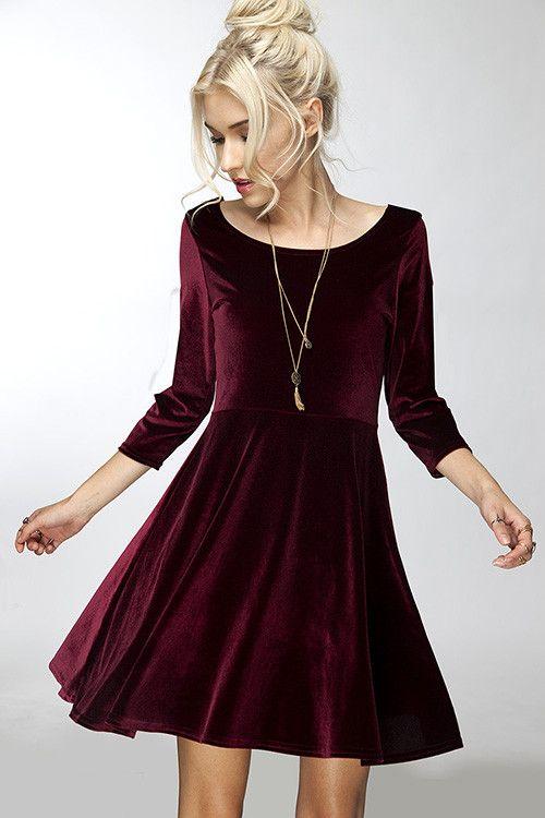outfit vestido aterciopelado