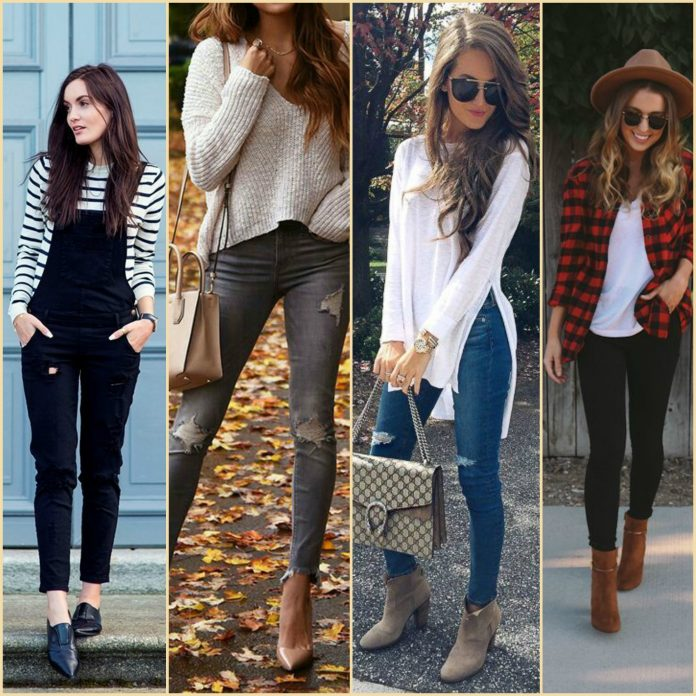 outfits casuales de otoño