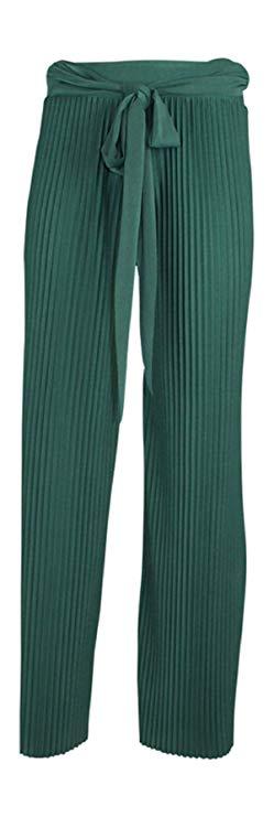 pantalon verde botella ancho