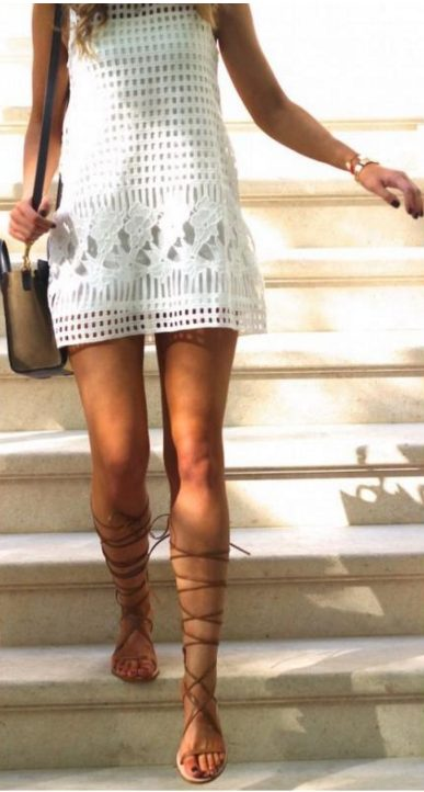 sandalias con vestido