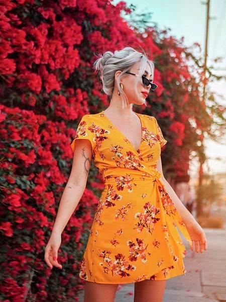 vestido de primavera lindo