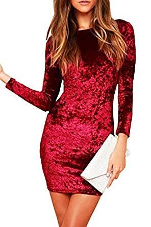 vestido rojo de terciopelo