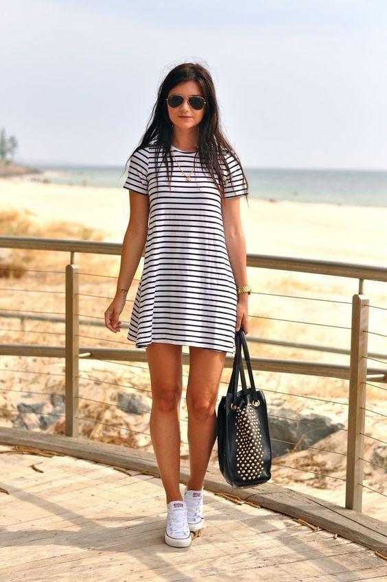 vestido  rayas para verano