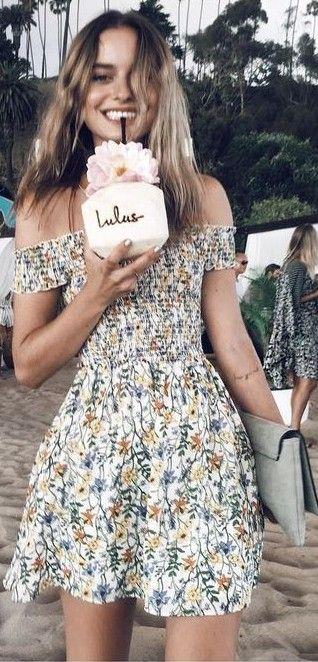 vestido estampado de verano