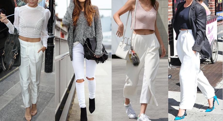 como usar pantalon blanco