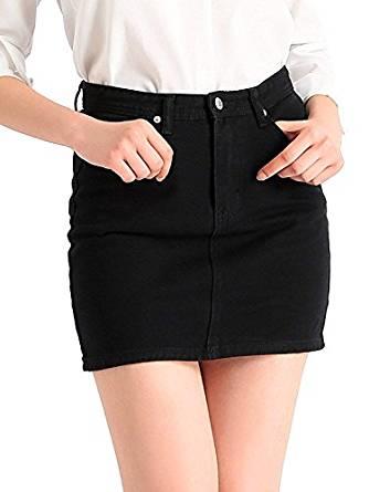 falda negra de jean