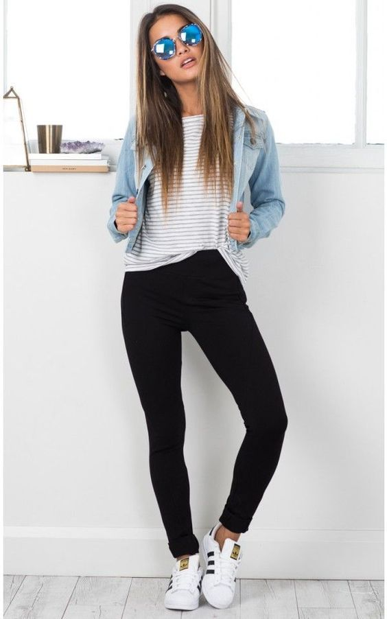 outfit casual de pantalon negro