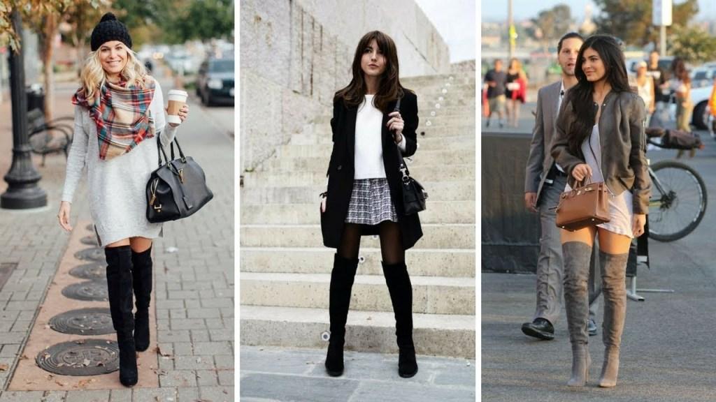 outfit con botas altas