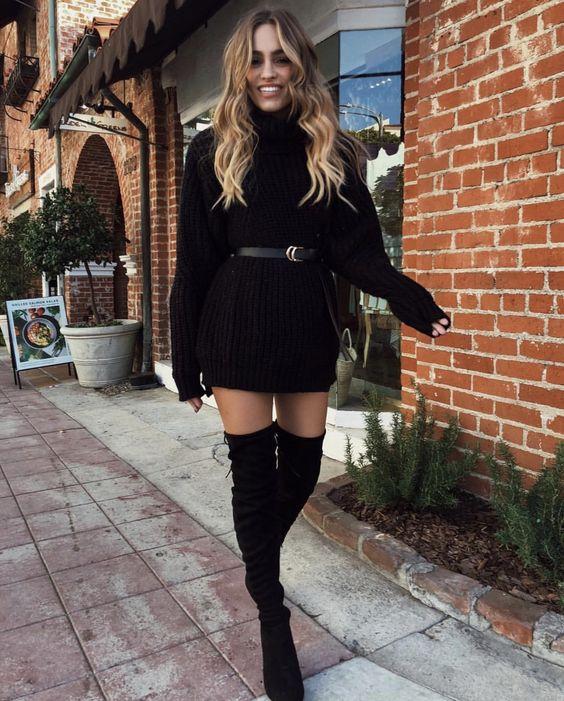 outfit de invierno con botas