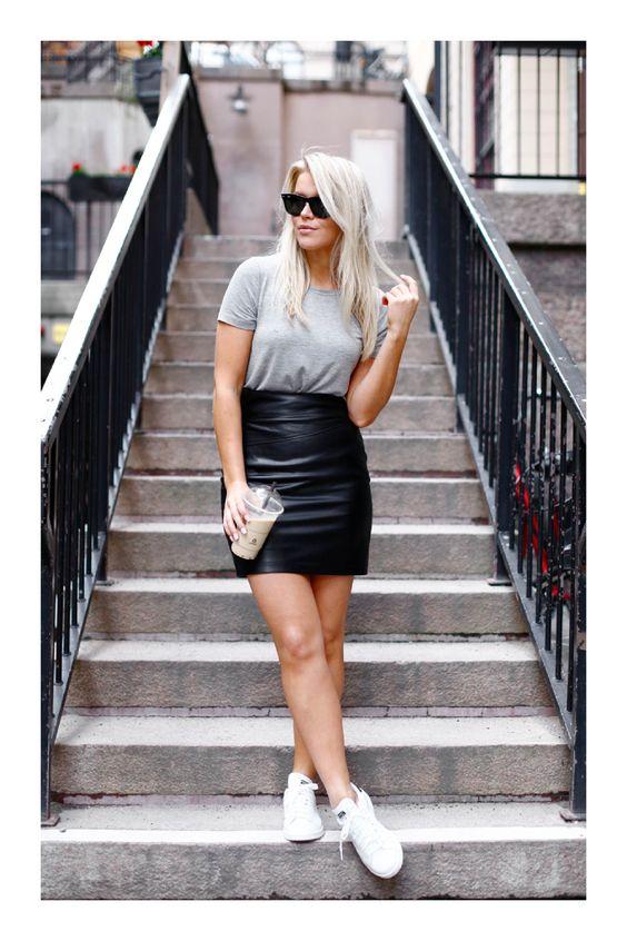 outfit con falda negra