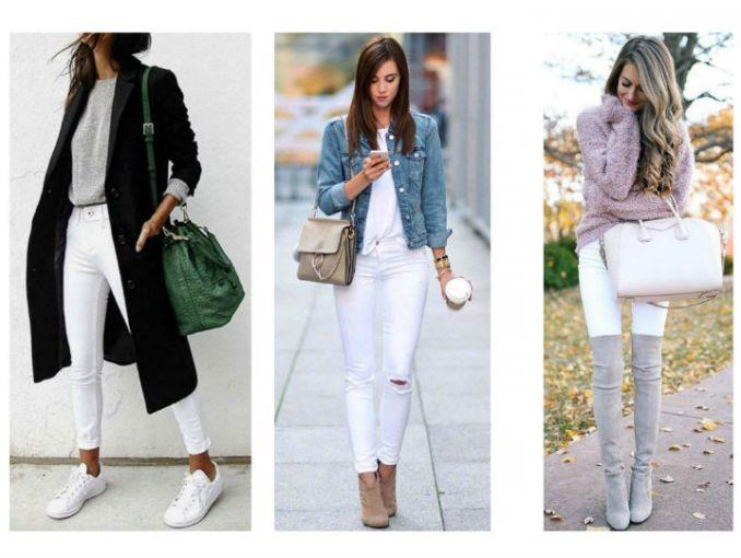 outfit con pantalon blanco