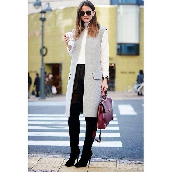 outfit de invierno sexy con botas