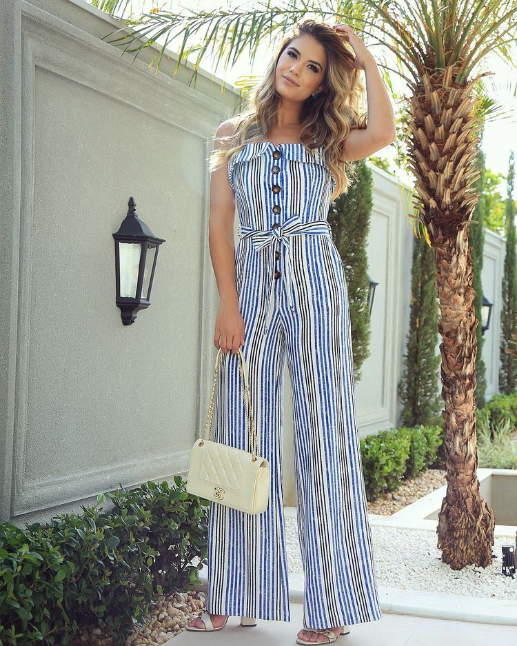 outfit de jumpsuit casual lindo