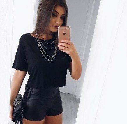 outfit de noche totalmente negro