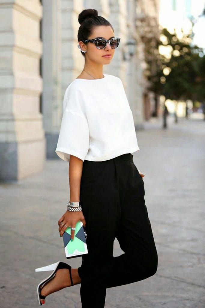 outfit de oficina con pantalon negro