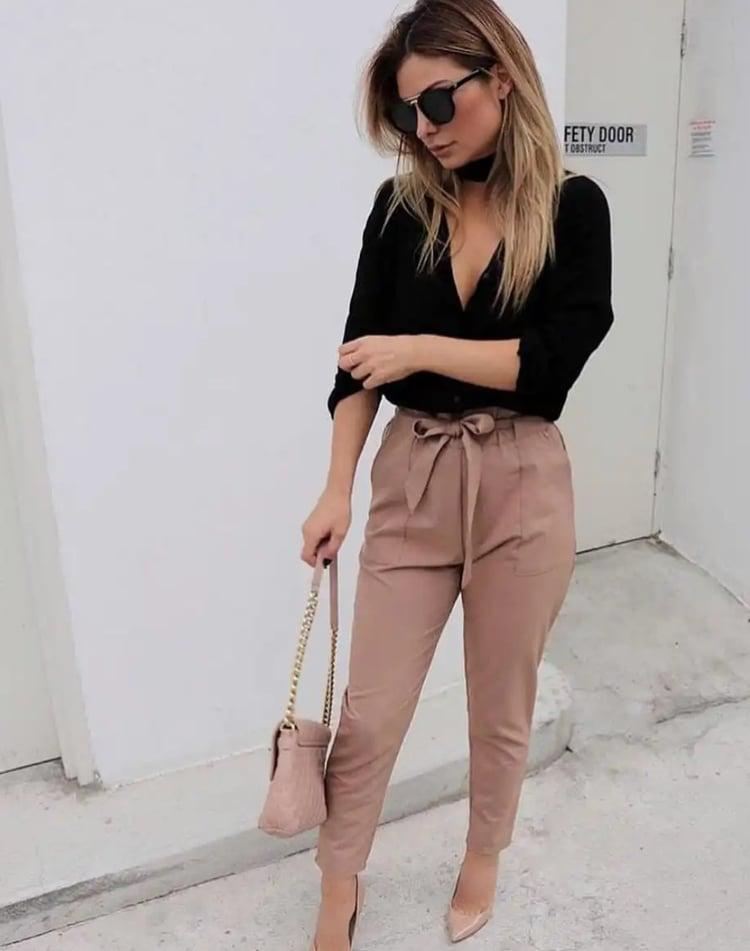 outfit de pantalon para oficina
