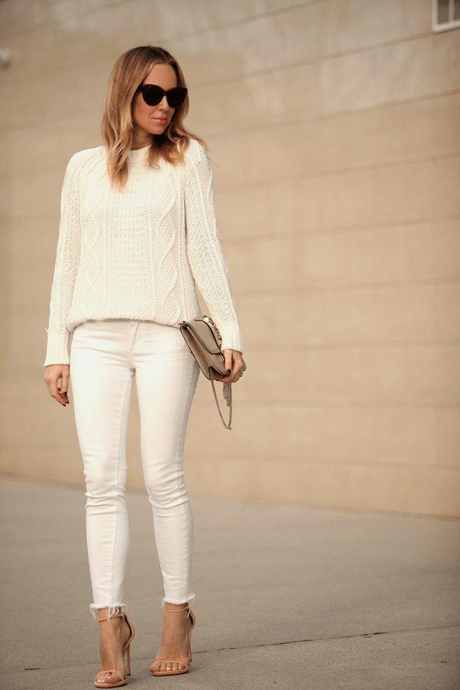 outfit lindo de pantalon blanco