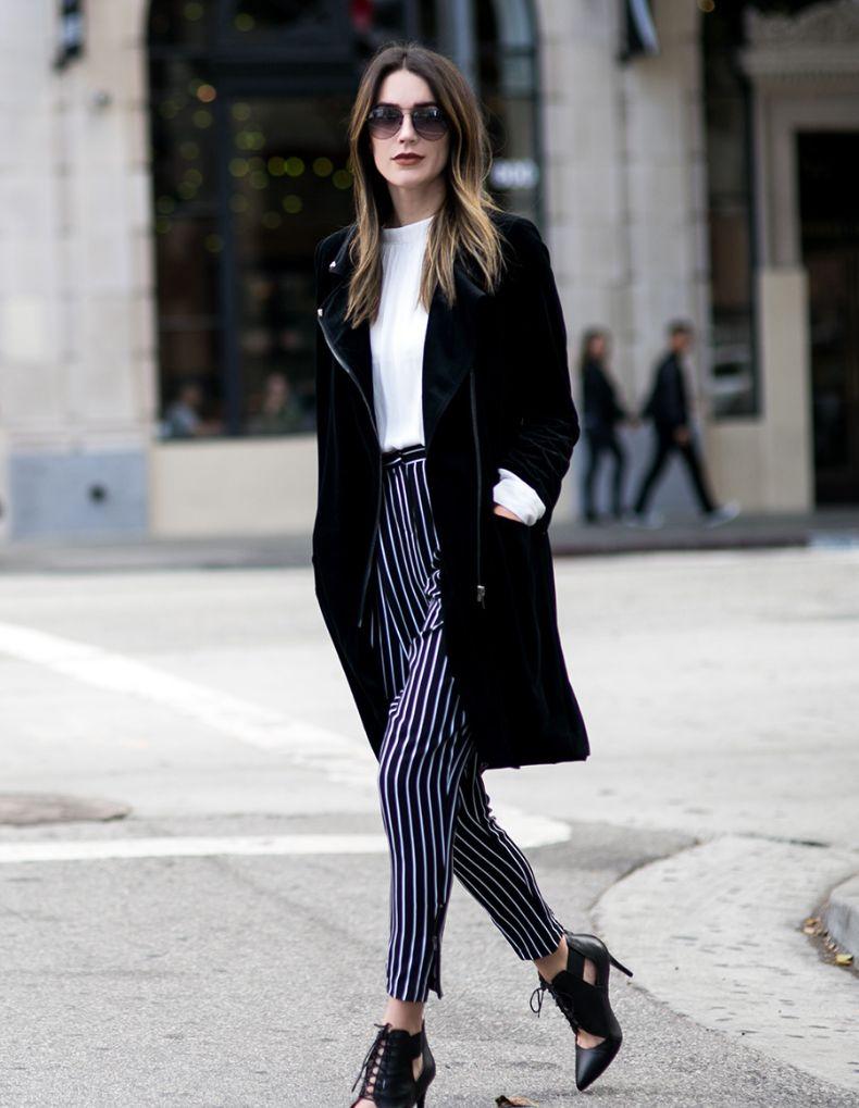 outfit chic de pantalon negro