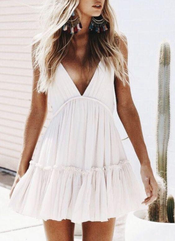 outfit de playa con vestido