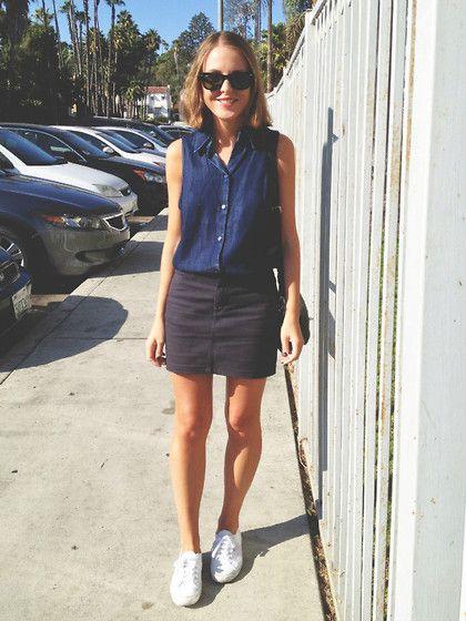 outfit de verano con falda negra