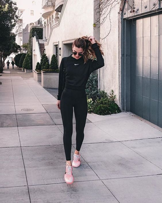 outfit deportivo negro