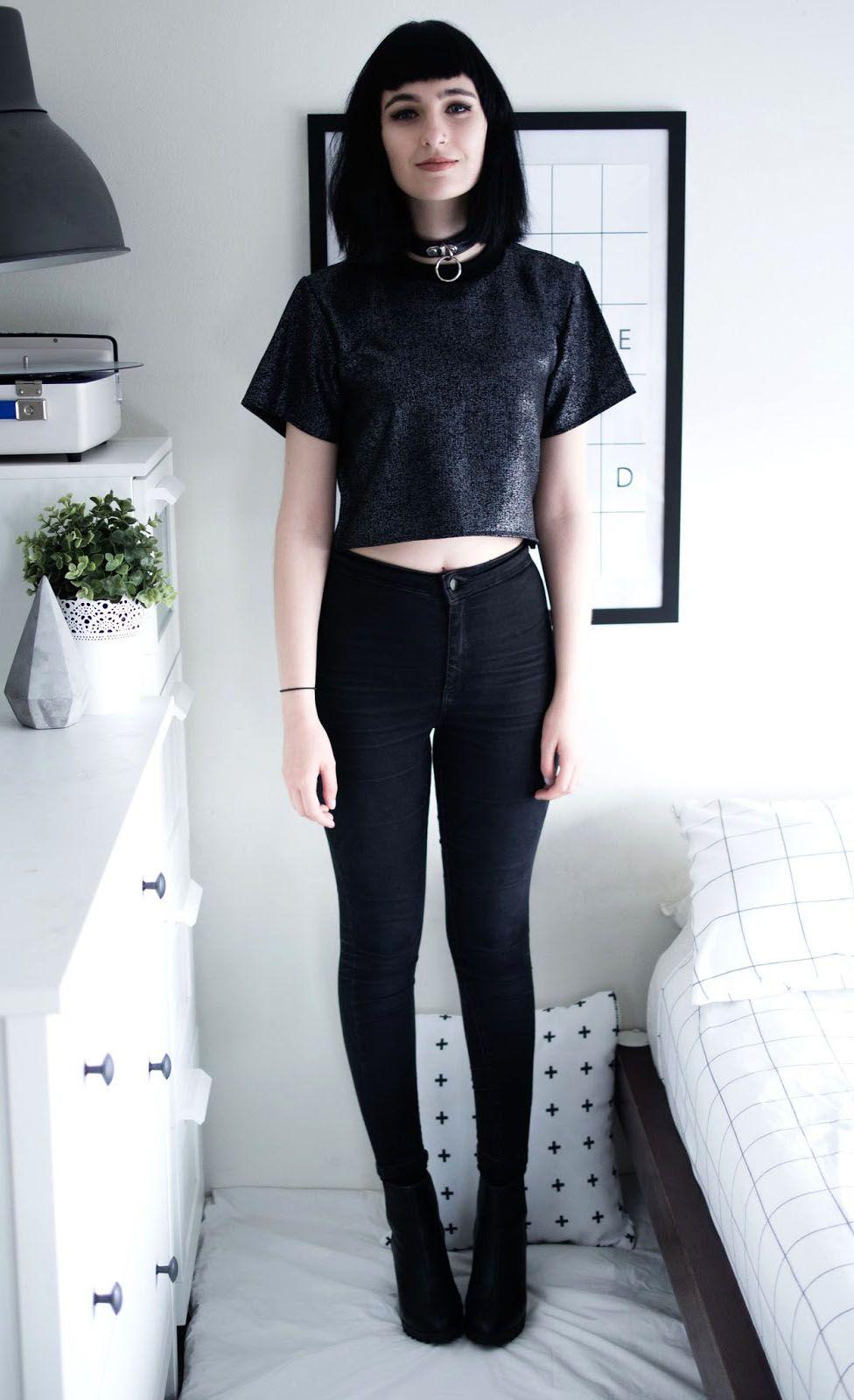 outfit grunge totalmente negro