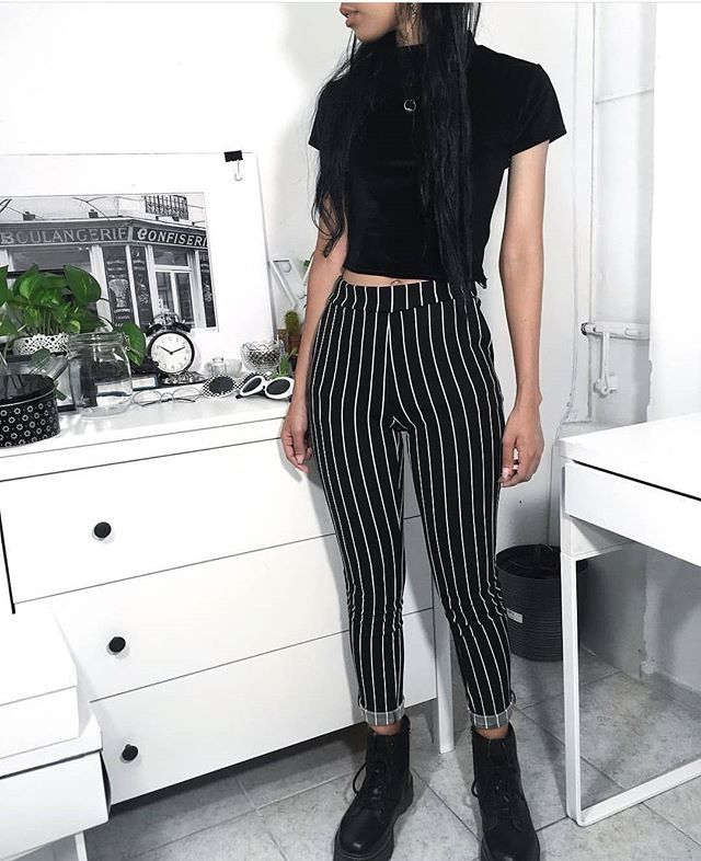 outfit negro grunge