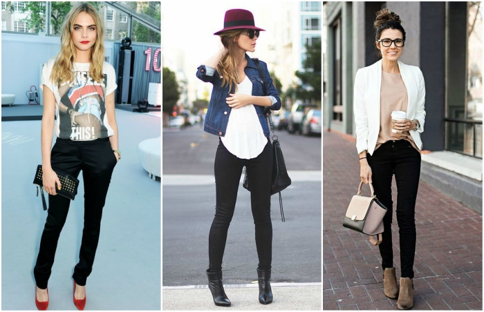 outfits con pantalon negro