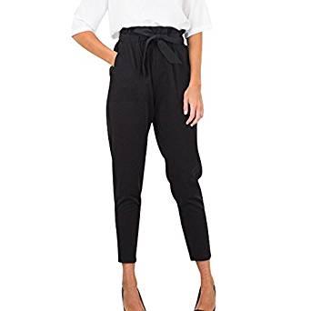 pantalon negro ancho