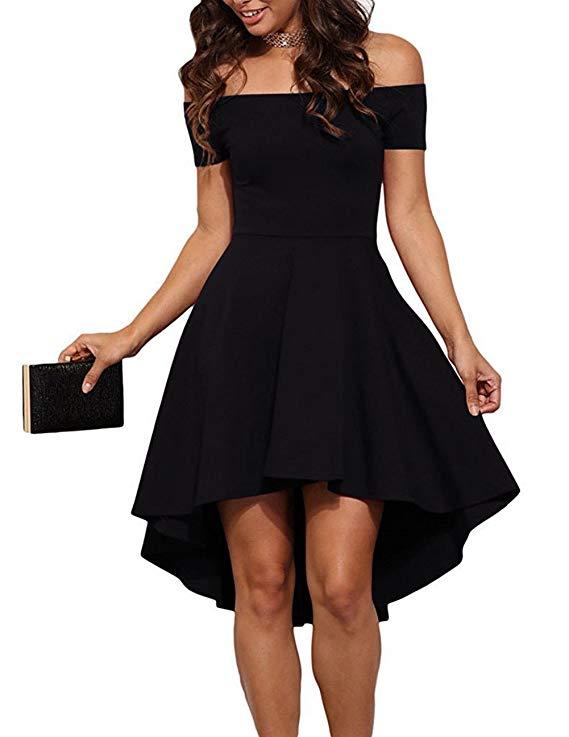 vestido negro de graduacion