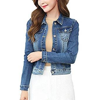 chaqueta de jean sencilla