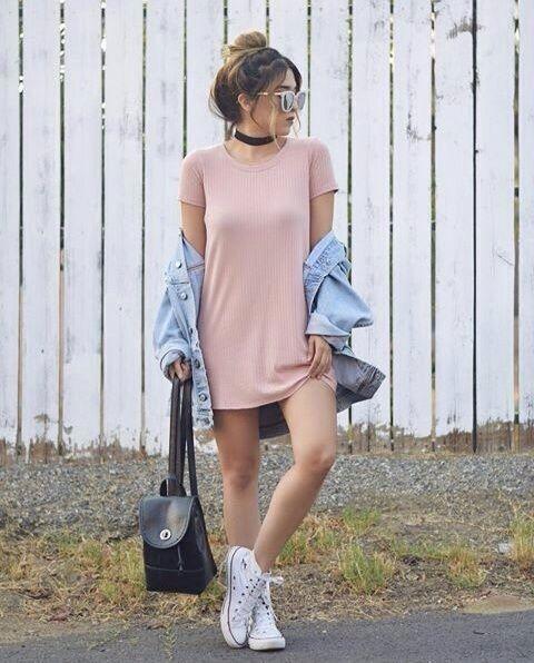 outfit casual con vestido