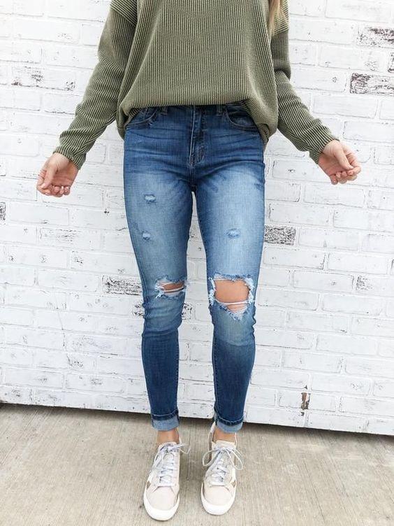 outfit de jean basico